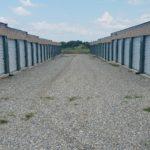 Main row of storage units
