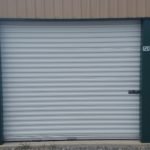Roll up door of a storage unit