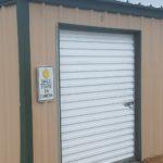 Closed storage unit door